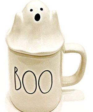 Rae Dunn Artisan Collection By Magenta Boo With Ghost Topper Halloween Coffee Tea Mug 0 300x360