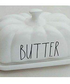Rae Dunn Artisan Collection By Magenta Ceramic Butter Dish Pumpkin Gourd Shaped Fall Autumn Harvest Thanksgiving Halloween 0 300x360