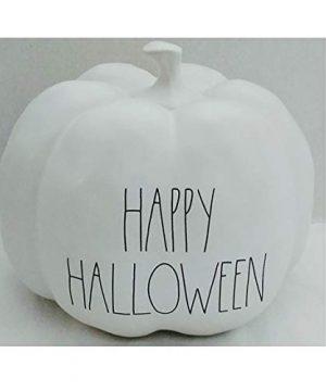 Rae Dunn Artisan Collection By Magenta Happy Halloween White LL Ceramic Pumpkin 0 300x360
