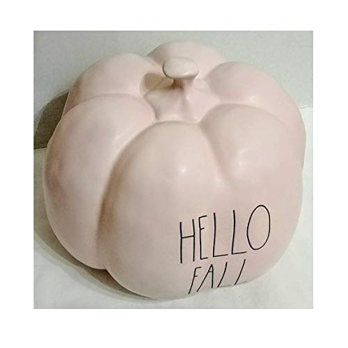 Rae Dunn Artisan Collection By Magenta Hello Fall Pink Decorative Ceramic Pumpkin 0 0