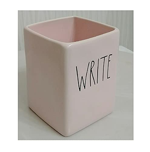 Rae Dunn Artisan Collection By Magenta Write Solid Pink Pen Desk Office Holder Organizer 0 0