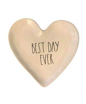 Rae Dunn BEST DAY EVER Heart Plate Ceramic 0 300x360