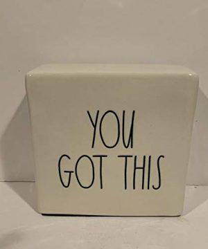 Rae Dunn BOSS Pencil Holder YOU GOT THIS Paperweight Set Ceramic Office Desk Organizer Friend Boy Father Mother Co Worker Gift 0 2 300x360