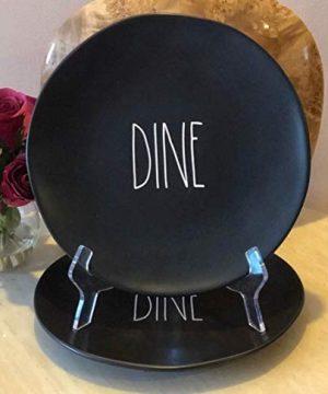 Rae Dunn Black Dine Dinner Plates Set Of 2 0 300x360