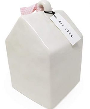 Rae Dunn By Magenta BABY BIRD Ceramic LL Decorative Birdhouse With Pink White Check Ribbon 2020 Limited Edition 0 0 300x360
