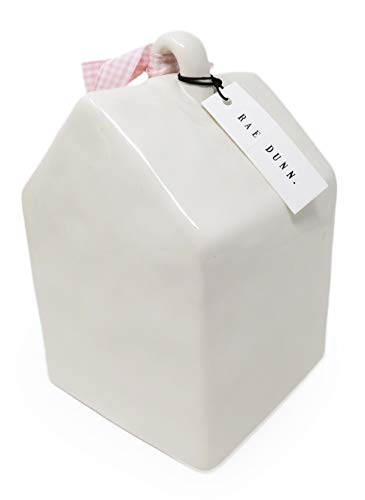 Rae Dunn By Magenta BABY BIRD Ceramic LL Decorative Birdhouse With Pink White Check Ribbon 2020 Limited Edition 0 0