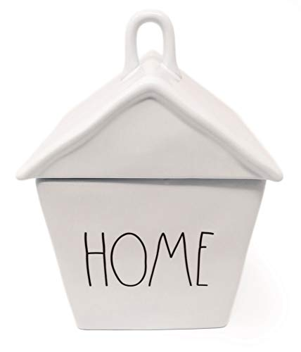 Rae Dunn By Magenta HOME Ceramic LL Birdhouse Shaped Canister Cookie Jar 2020 Limited Edition 0