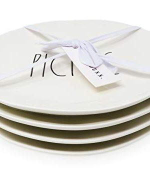 Rae Dunn By Magenta PICNIC DELISH BBQ PARTY 4 Piece Melamine LL 8 Inch Side Salad Plates 0 0 300x358