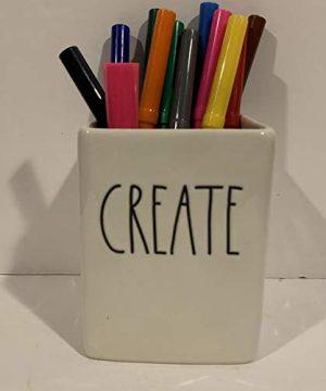 Rae Dunn CREATE Pencil Holder DREAM BIG Paperweight Set Ceramic Office Desk Organizer Friend Boy Father Mother Co Worker Gift 0 1 300x360