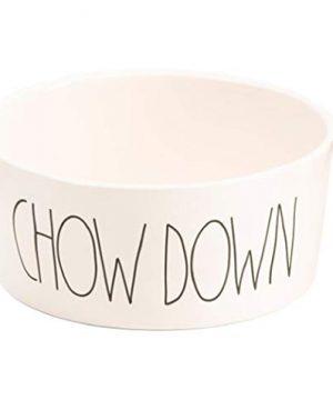 Rae Dunn Chow Down Large 8 Ceramic Pet Dog Bowl White 0 300x360