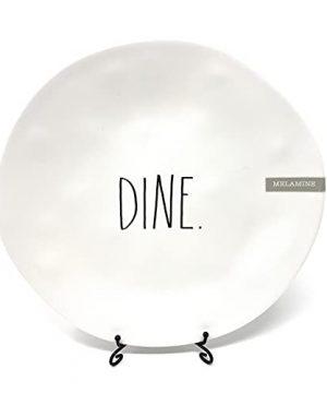 Rae Dunn DINE Melamine 10 Inch Dinner Plates Mix And Match White DINE 0 300x360