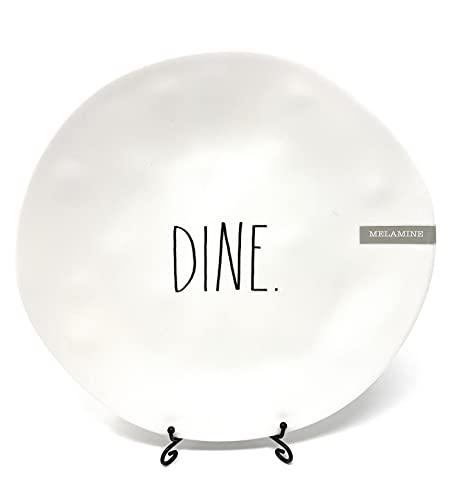 Rae Dunn DINE Melamine 10 Inch Dinner Plates Mix And Match White DINE 0