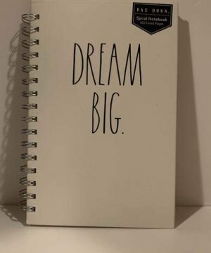 Rae Dunn DREAM BIG Notebook Small Size Hard Cover 160 Pages Office Co Workers Student Teacher Gift 0 300x360