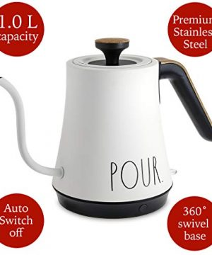 Rae Dunn Electric Gooseneck Kettle Electric Kettle With Dry Boil Protection 1 L Capacity 1000 Watt Cream 0 0 300x360