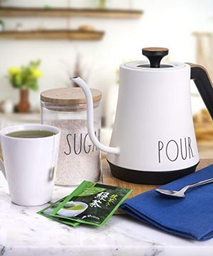 Rae Dunn Electric Gooseneck Kettle Electric Kettle With Dry Boil Protection 1 L Capacity 1000 Watt Cream 0 1 300x360