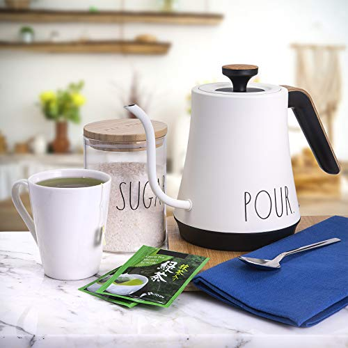 Rae Dunn Electric Gooseneck Kettle Electric Kettle With Dry Boil Protection 1 L Capacity 1000 Watt Cream 0 1