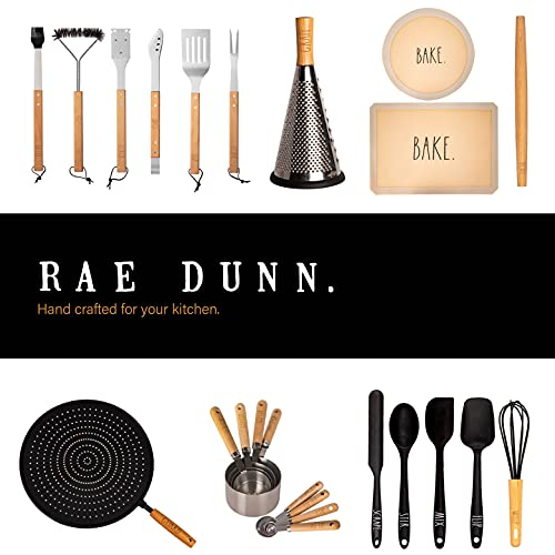 Rae Dunn Everyday Collection 7 Piece Wood Design And Stainless Steel Kitchen Gadget Set Kitchen Tools With Wood Like Handles 0 5