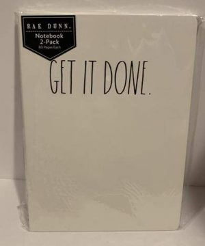 Rae Dunn GET IT DONE MAKE IT HAPPEN Notebook 10 X 7 80 Pages Each 0 300x360