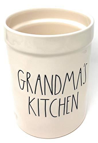 Rae Dunn Grandmas Kitchen Utensils Crock Large Jar Kitchen Tools Holder 0 0