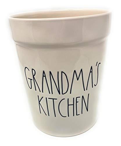 Rae Dunn Grandmas Kitchen Utensils Crock Large Jar Kitchen Tools Holder 0