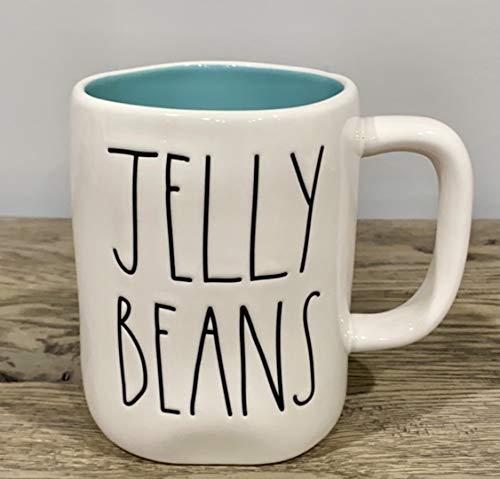 Rae Dunn JELLY BEANS Easter Coffee Cocoa Tea Mug Blue Interior Ceramic Very Rare 0