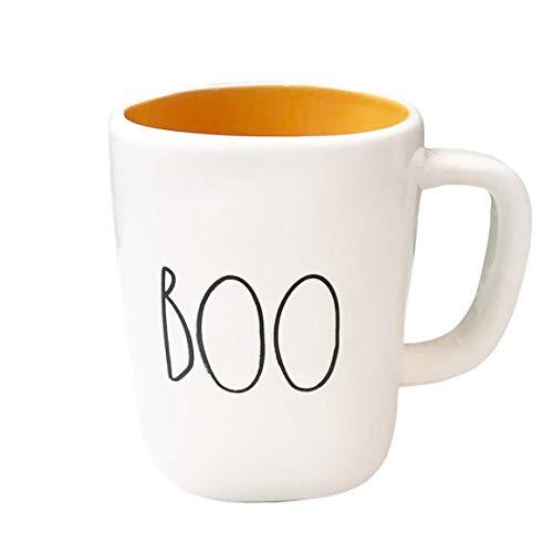 Rae Dunn Large Letter LL Halloween Mugs 16 Oz Coffee Mugs BOO 0