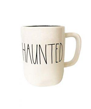 Rae Dunn Large Letter LL Halloween Mugs 16 Oz Coffee Mugs HAUNTED BLACK INTERIOR 0 300x360