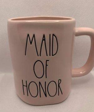Rae Dunn MAID OF HONOR Mug Allside Pink Ceramic 16 Ounces Wedding Gift 0 0 300x360
