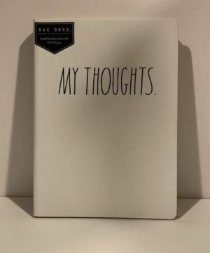 Rae Dunn MY THOUGHTS Leatherette Notebook 192 Pages 8 X 6 Inches 0 300x360