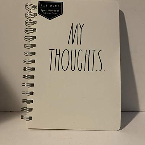 Rae Dunn MY THOUGHTS Spiral Notebook 160 Lined Pages 9 X 55 0
