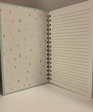 Rae Dunn NOTE BOOK Spiral Turquoise Or Ivory Hard Cover 160 Pages 9 X 6 Inches Office Notebook Lover Gift 0 0 300x360