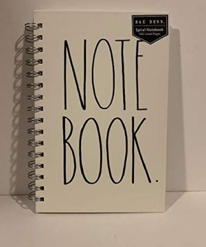 Rae Dunn NOTE BOOK Spiral Turquoise Or Ivory Hard Cover 160 Pages 9 X 6 Inches Office Notebook Lover Gift 0 1 300x360