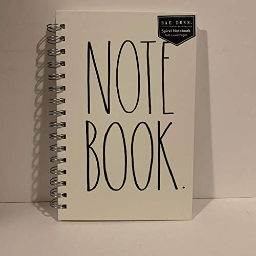 Rae Dunn NOTE BOOK Spiral Turquoise Or Ivory Hard Cover 160 Pages 9 X 6 Inches Office Notebook Lover Gift 0 1