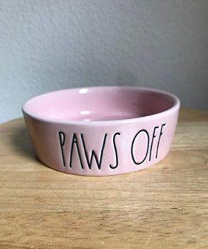 Rae Dunn Paws Off Dog Bowl Pink 0 300x360