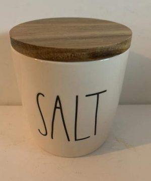 Rae Dunn SALT Cellar Ceramic 35 Tall 25 Diemeter Very Rare 0 300x360