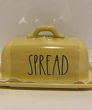 Rae Dunn SPREAD BUTTER Dish Ceramic Microwave And Dishwasher Safe YELLOW 0 300x360
