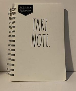 Rae Dunn TAKE NOTE Spiral Notebook 160 Lined Pages 8 X 55 0 300x360