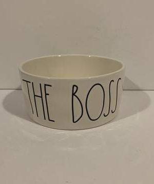 Rae Dunn THE BOSS Dog Bowl 6 Medium Ceramic Product Name 0 300x360