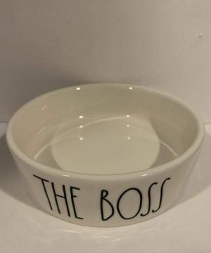 Rae Dunn THE BOSS Pet Dog Or Cat Bowl 475 Ceramic 0 300x360