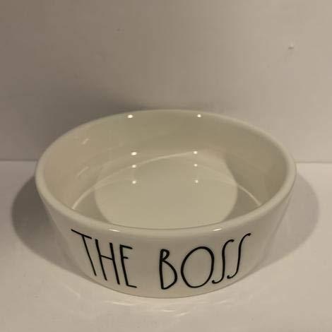 Rae Dunn THE BOSS Pet Dog Or Cat Bowl 475 Ceramic 0