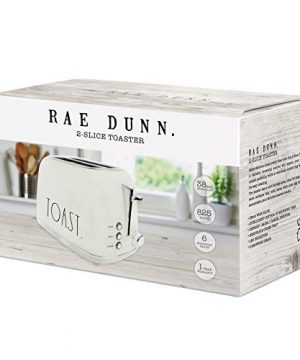 Rae Dunn Toaster Stainless Steel 2 Slice Rounded Toaster Wide Slot With 6 Browning Levels With Bagel Defrost And Cancel Options Cream 0 0 300x360