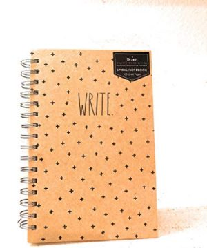 Rae Dunn WRITE Notebook Spiral Kraft Hard Cover 160 Lined Pages 85 X 6in 0 300x360
