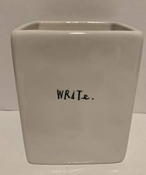 Rae Dunn WRITE Pen Pencil Holder Office Desk Organizer Ceramic 0 0 300x360