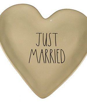 Rae Dunn Wedding Heart Plate Just Married Wedding Gift 0 300x360