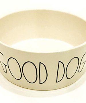 Rae Dunn X Large Ceramic Dog Bowl 8x35 Good Doggy 0 300x360
