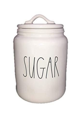 Rae Dunn XL Sugar Canister Ceramic LL Long Letter 0