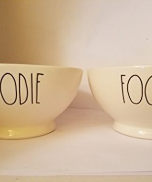 Rae Dunn Set Of Two Bowls Foodie 0 300x360