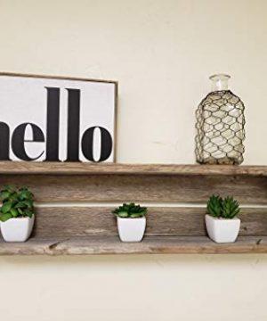 Reclaimed Wood Shadow Box Shelf With Wood Backing Floating Shelf Weathered Grey Rectangle 0 300x360