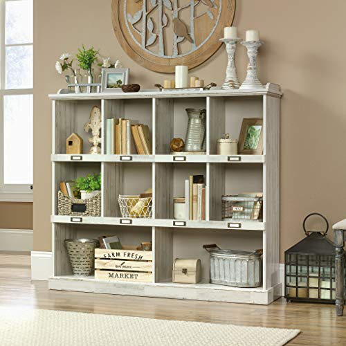 Sauder Barrister Lane Bookcase L 5315 X W 1213 X H 4752 White Plank Finish 0 0