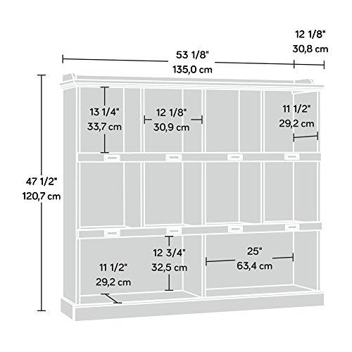 Sauder Barrister Lane Bookcase L 5315 X W 1213 X H 4752 White Plank Finish 0 1